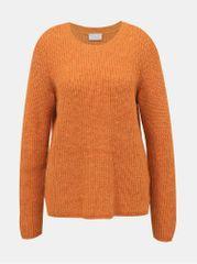 VILA oranžový svetr s příměsí vlny z alpaky