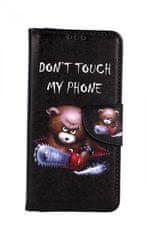 TopQ Pouzdro Honor 20 knížkové Don't Touch méďa 43657