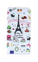 TopQ Pouzdro Honor 9 Lite knížkové bílé Paříž 28160