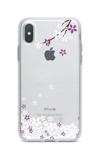 TopQ Pouzdro iPhone XS Max silikon Květy sakury 34010