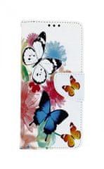 TopQ Pouzdro Xiaomi Mi 9 knížkové Barevné s motýlky 42289