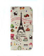 TopQ Pouzdro Asus ZenFone 4 Max ZC554KL knížkové bílé Paříž 23367