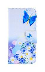 TopQ Pouzdro Honor 10 Lite knížkové Bílé s motýlkem 38463