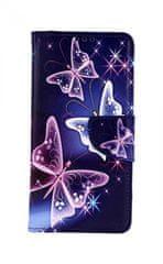 TopQ Pouzdro Huawei Y6s knížkové Modré s motýlky 47980