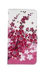 TopQ Pouzdro Samsung A10 knížkové Kytičky textil 43335