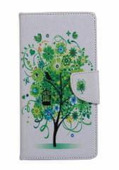 TopQ Pouzdro Asus ZenFone 3 Max ZC553KL knížkové bílé se stromem 16930