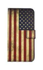 TopQ Pouzdro Asus Zenfone 4 Max ZC520KL knížkové Amerika 29121
