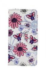 TopQ Pouzdro Honor 20 Lite knížkové Flowers 43593
