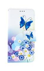 TopQ Pouzdro Honor 7C knížkové bílé s motýlkem 38986