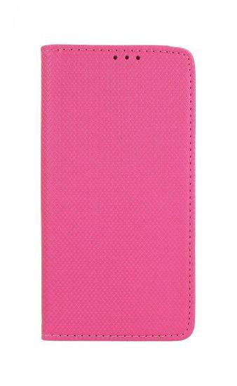 TopQ Pouzdro Samsung J6+ Smart Magnet knížkové tmavě růžové 40916