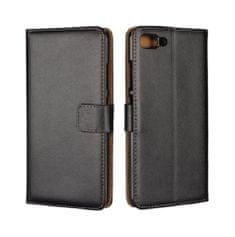 TopQ Pouzdro Asus ZenFone 4 Max knížkové černé s přezkou 23202