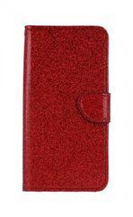 TopQ Pouzdro Honor 8X knížkové glitter červené 39201