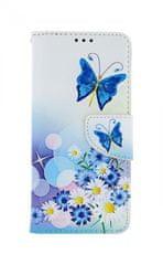 TopQ Kryt Samsung A71 knížkový Bílý s motýlkem 48049