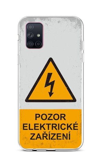 TopQ Kryt Samsung A71 silikon Pozor elektrické zařízení 47569