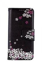 TopQ Kryt Samsung A51 knížkový Květy sakury 47993