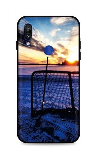 TopQ Kryt DARK Xiaomi Redmi Note 7 silikon Hockey Sunset 45459