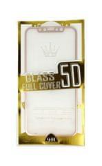 BestGlass Polykarbonátové tvrzené sklo iPhone X 5D růžové 27442