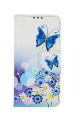 TopQ Pouzdro Xiaomi Mi 9 SE knížkové Bílé s motýlkem 43716