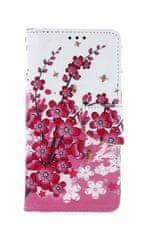 TopQ Pouzdro Xiaomi Redmi 8 knížkové Kytičky 47229
