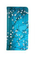 TopQ Kryt Samsung A51 knížkový Modré s květy 47995