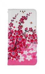 TopQ Pouzdro Xiaomi Mi 9T knížkové Kytičky textil 43382