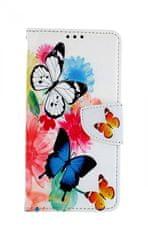 TopQ Pouzdro Xiaomi Mi 9T knížkové Barevné s motýlky 43389