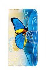 TopQ Pouzdro Honor 8X knížkové modrý motýlek 34875