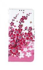 TopQ Pouzdro Samsung A70 knížkové Kytičky textil 41051