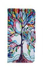 TopQ Pouzdro Huawei P30 Lite knížkové Barevný strom 41443