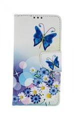 TopQ Pouzdro Honor 20 Lite knížkové Bílé s motýlkem 43571
