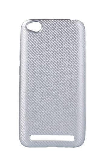 TopQ Pouzdro Carbon Xiaomi Redmi 5A silikon stříbrný 29848