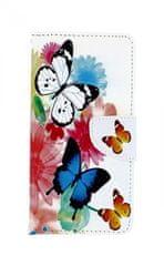 TopQ Pouzdro Xiaomi Mi A3 knížkové Barevné s motýlky 43682