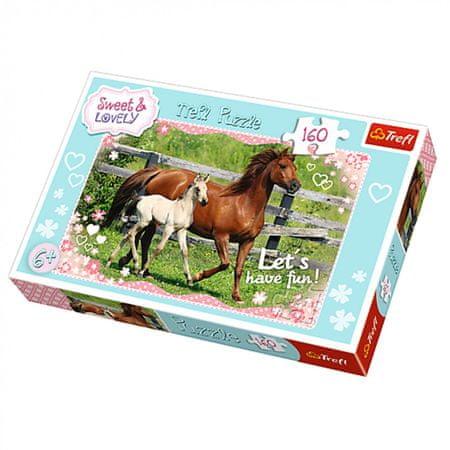 Trefl sestavljanka Sweet & Lovely, konji, 160 kosov
