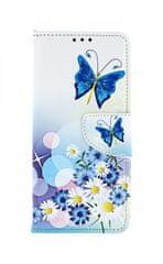 TopQ Pouzdro Xiaomi Redmi Note 7 knížkové Bílé s motýlkem 40371