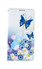 TopQ Pouzdro Xiaomi Redmi 7 knížkové Bílé s motýlkem 41016