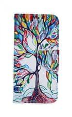 TopQ Pouzdro Samsung A40 knížkové Barevný strom 42343