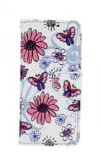 TopQ Pouzdro Xiaomi Redmi Note 8T knížkové Flowers 46865
