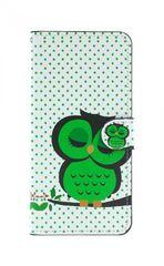 TopQ Pouzdro Honor 8X knížkové bílé se sovičkou 37683