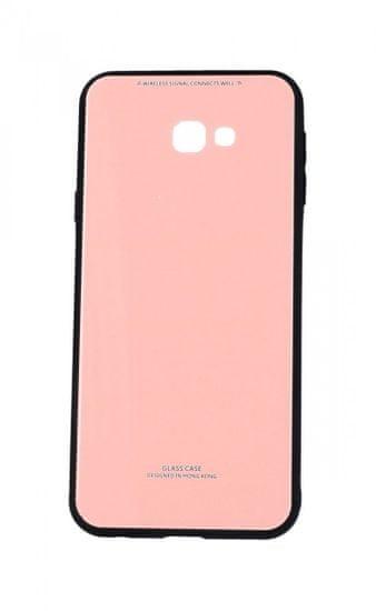 TopQ Kryt GLASS Samsung J4+ pevné růžový 39487