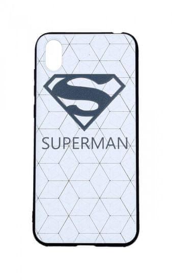 TopQ Kryt Huawei Y5 2019 3D silikón Biely Superman 41673