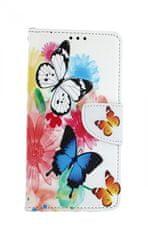 TopQ Pouzdro Samsung A10 knížkové Barevné s motýlky 43337