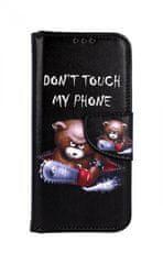 TopQ Pouzdro Samsung A40 knížkové Don´t Touch méďa 42342