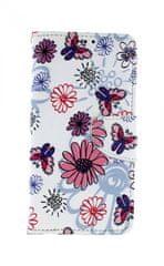 TopQ Pouzdro Xiaomi Mi 9T knížkové Flowers 43385