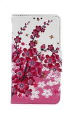 TopQ Pouzdro Nokia 6.1 knížkové Kytičky textil 43594