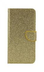 TopQ Pouzdro Xiaomi Mi A3 knížkové glitter zlaté 46096
