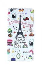 TopQ Pouzdro Honor 10 Lite knížkové Bílý Paříž 38493
