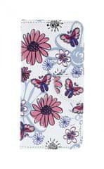 TopQ Pouzdro Samsung A50 knížkové Flowers 41077