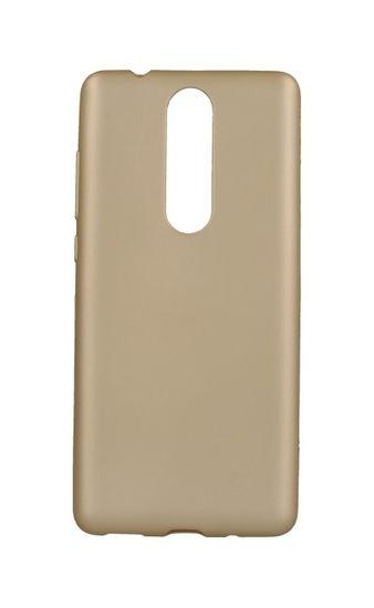 Jelly Flash Pouzdro Nokia 5.1 silikon zlaté matné 32296