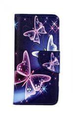 TopQ Pouzdro Xiaomi Mi 9 SE knížkové Modré s motýlky 43712