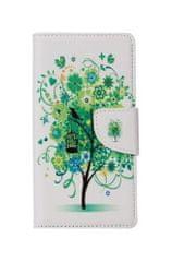 TopQ Pouzdro Asus ZenFone 4 Max ZC554KL knížkové bílý se stromem 23416